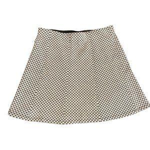 Ann Taylor Loft Black & White Tweed Skirt Medium
